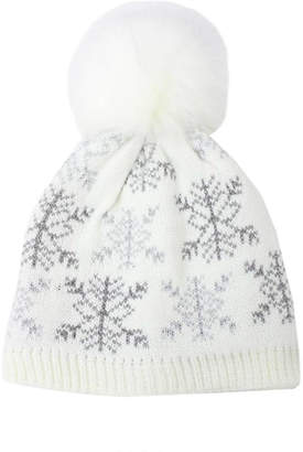 David & Young Snowflake Knit Beanie