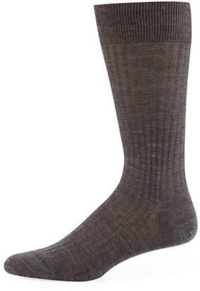 Pantherella Solid Wool Half-Calf Socks