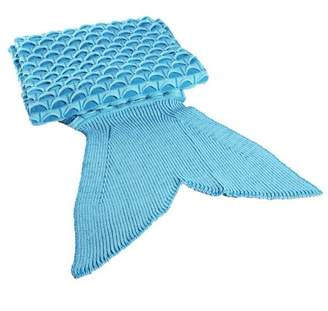 Persist 2 Colors Lovely Wool Materials Knitted Mermaid Tail Blanket Lazy Bag SY017