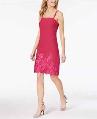 Betsey Johnson Embroidered Sheath Dress