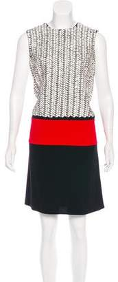 Carmen Marc Valvo Embellished Shift Dress w/ Tags