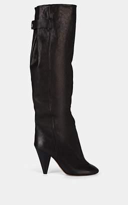 Isabel Marant Women's Lacine Leather Knee Boots - Black