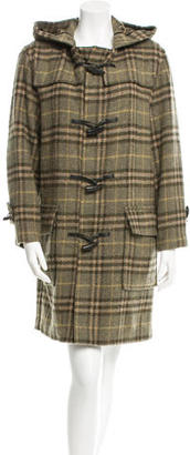Burberry London Wool Nova Check Trench Coat $535 thestylecure.com
