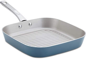 "Ayesha Curry 11.25"" Porcelain Enamel Deep Square Grill Pan"