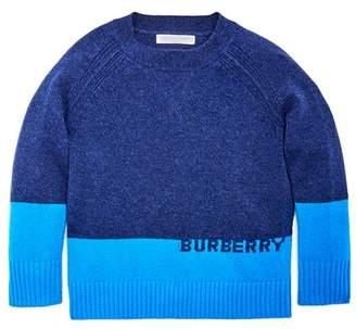 Burberry Boys' Alistar Color-Block Cashmere Sweater - Little Kid, Big Kid