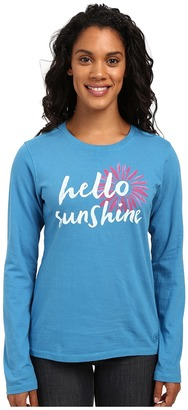 Life is good Hello Sunshine Daisy Long Sleeve Crusher Tee $30 thestylecure.com