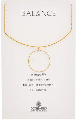 Dogeared Balance 14K Over Silver Delicate Bar Necklace