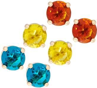 C. Wonder Set of 3 Faceted Crystal Stud Earrings