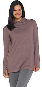 Cuddl Duds Comfortwear French Terry Long SleeveSoft Cowl Top