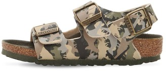 Birkenstock CAMOUFLAGE FAUX LEATHER SANDALS