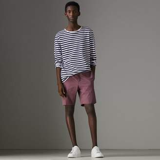 Burberry Gingham Cotton Tailored Shorts