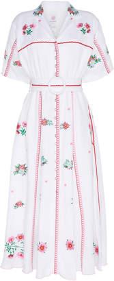 Gül Hürgel Collared Linen Midi Dress