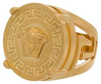 Versace Medusa head round shape ring