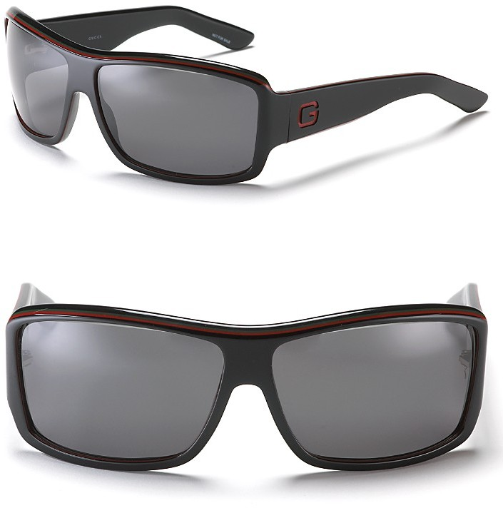 Gucci Sport Wrap Rectangular Sunglasses
