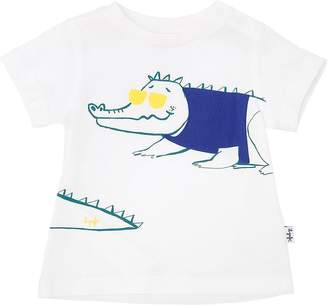 Il Gufo Crocodile Print Cotton Jersey T-Shirt
