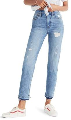 Madewell Classic Distressed Straight Leg Jeans