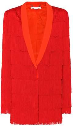 Stella McCartney Fringed wool jacket
