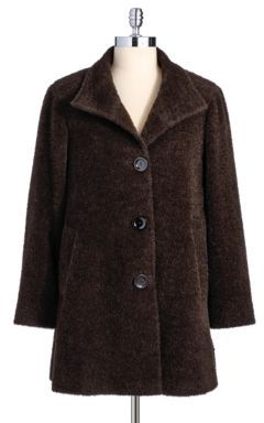 CINZIA DUE Alpaca and Wool Coat