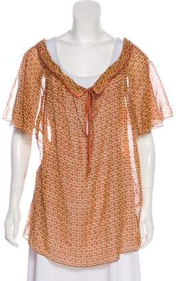 Marc Jacobs Silk-Trimmed Floral Tunic