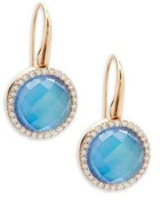 Roberto Coin Diamond, Topaz and 18K Rose Gold Fantasia Drop Earrings