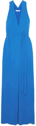 Halston Crepe Maxi Dress - Blue
