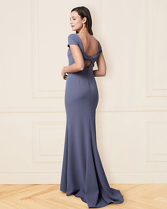 Le Château Twill Cutout Back Gown