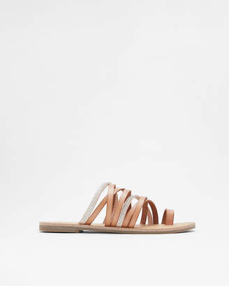 Express Strappy Stone Toe Loop Sandals