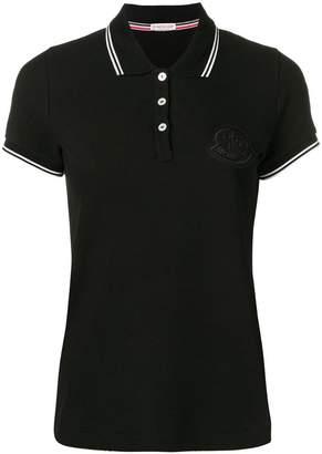 Moncler contrast trim logo patch polo shirt