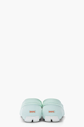 Swims Seafoam green and white water resistant Flat Loafers