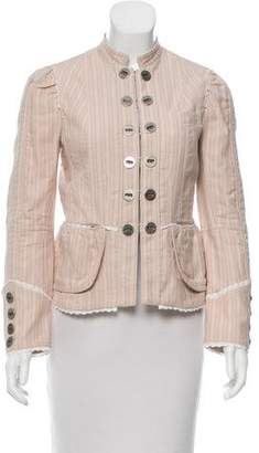 Marc Jacobs Striped Long Sleeve Jacket