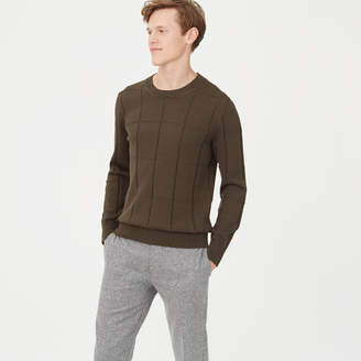 Club Monaco Grid Crew Sweater