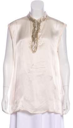 Lanvin Embellished Sleeveless Top