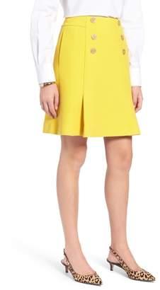 1901 Button Front A-Line Skirt