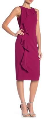Rachel Roy Ruffle Side Crepe Scuba Dress