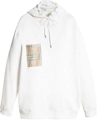 Burberry check pocket hoodie