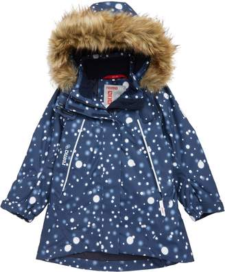 Reima Silda Reimatec(R) Waterproof Hooded Jacket with Faux Fur Trim