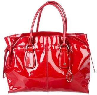 Tod's Patent Leather Tote Red Patent Leather Tote