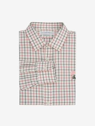 Alexander McQueen Tattersall Check Rose Shirt