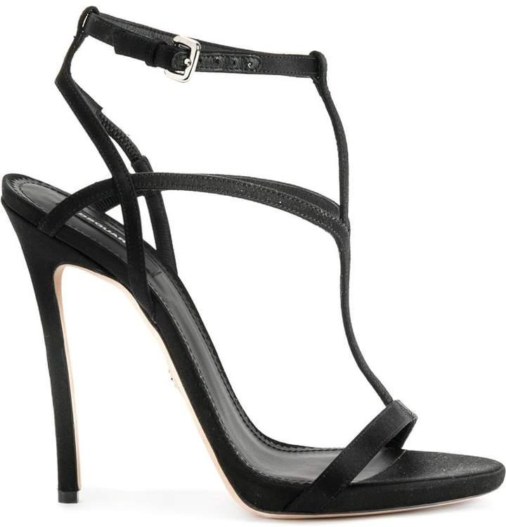 DSQUARED2 T-strap stiletto sandals