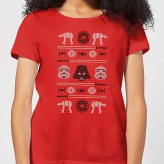 Star Wars Imperial Knit Women's Christmas T-Shirt