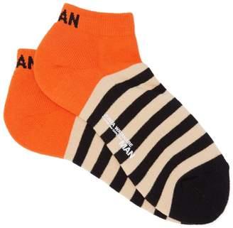 Junya Watanabe Striped cotton-blend socks