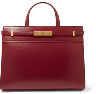 94a5cbe05f90 Saint Laurent Manhattan Small Leather Tote - Burgundy