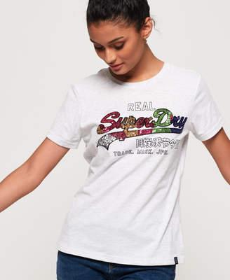 Superdry Vintage Logo Carnival Sequin T-Shirt