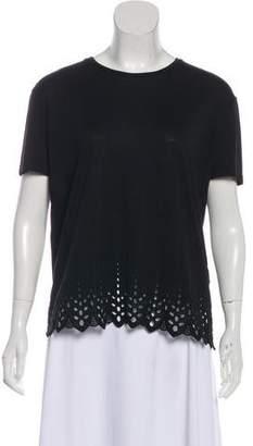 The Kooples Short Sleeve Knit Top