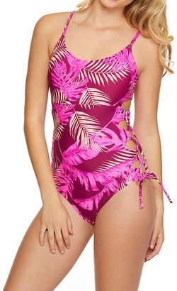 1612131c6e64c Arizona Leaf One Piece Swimsuit Juniors