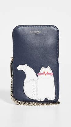 Kate Spade Beaded Cat Phone Crossbody