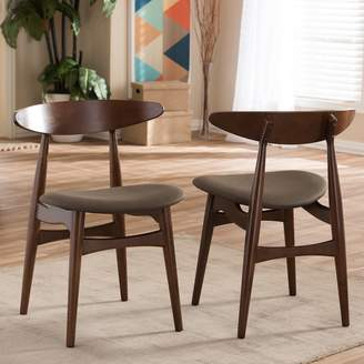 Baxton Studio Flamingo Mid-Century Dining Chair 2-piece Set