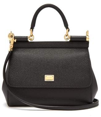 51fe9dff2f Dolce   Gabbana Sicily Small Dauphine Leather Bag - Womens - Black