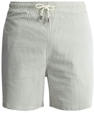 Solid & Striped The Classic Striped Swim Shorts - Mens - Green