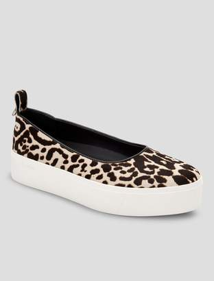 Calvin Klein janie leopard platform sneaker